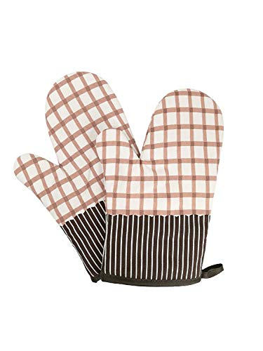 Tiadi Schweißen bis zu Kochhandschuhe auf dem Campingplatz unter Kochen Backen für BBQ Ofenhandschuhe Speisen Premium Hitzebeständige Grillhandschuhe - Mikrofaser-former