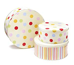 Cooksmart Cake Tins, Set of 3, Spots