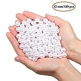180PCS Perlas para manualidades perlas para coser plástico perlas decorativas para rellenos de jarrones/collares de/bricolaje de joyería/bodas/fiesta de/cumpleaños decoració/Decoración del hogar