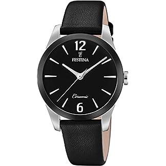 Festina-Damen-Analog-Quarz-Uhr-mit-Leder-Armband-F204736