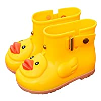 Saihui Infant Toddler Wellies Children Rain Boots UFO Duck Waterproof Rubber Rain Shoes Warm Liner Sock Kids Boys Girls