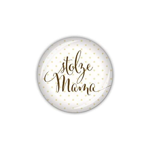 lijelove® Button 25mm Ø Creme stolze Mama (Art. 04-01UQ) (Taufe Pin)