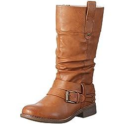 Rieker 95678 - Botas altas para mujer, color Marrón (cayenne/23), talla 37 EU