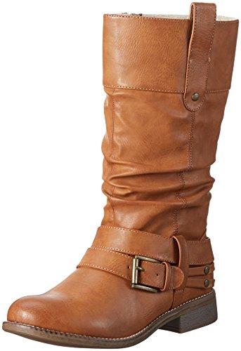 Rieker Damen 95678 Langschaft Stiefel, Braun (Cayenne / 23), 39 EU
