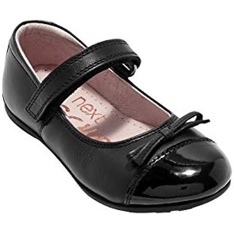 next Niñas Júnior Zapatos Merceditas Mary Jane Puntera De Charol Estrechos (Niña Mayor)