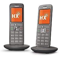 Gigaset CL660HX Duo Universal-Mobilteile – 2 schnurlose IP-/Design Telefon (zum Anschluss an Basisstationen oder Router – mit großem Display und brillanter Sprachqualität) anthrazit-metallic