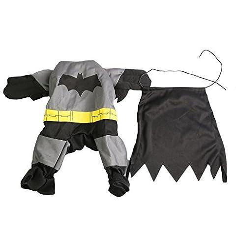 Haustier Bekleidung Hundepullover Hundekostüme Batman Anzug Hundejacke (Hund Tragen Weihnachten Kostüm)