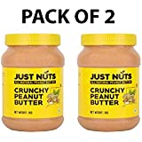 Just Nuts- All Natural Peanut Butter With No Added Sugar, Salt Or Hydrogenated Oils (Crunchy) Pack Of 2