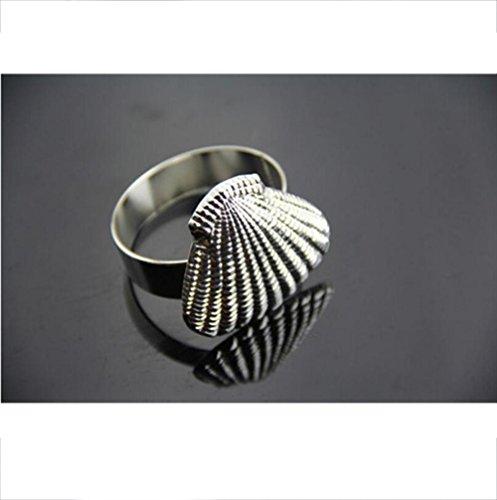 Reifen-servietten (Alger Serviette Ring Esstisch Urlaub romantische Mahlzeit Satz von 4 , silver)