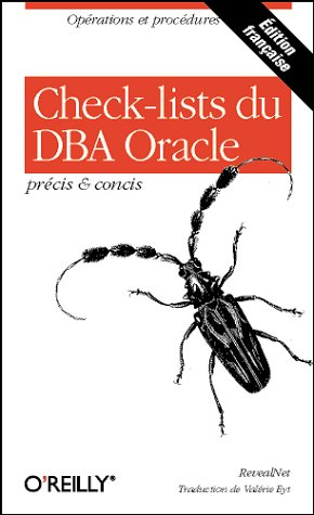 Check-lists du DBA Oracle