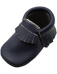 YIHAKIDS Chaussures Bébé Chaussons Cuir Souple Bébé Fille Garçon Frange  Chaussures 4dcb9b500dfc