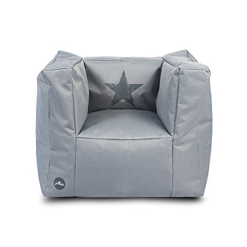 Jollein 028-543-65024 Beanbag Faded star, grau (Kleinkindsitz)