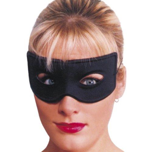 Smiffys Halloween Karneval Maske Bandit schwarz Augenmaske zum Räuber Kostüm