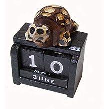 SCHILDKRÖTE KALENDER Holzkalender Endloskalender Schildkröte Deko