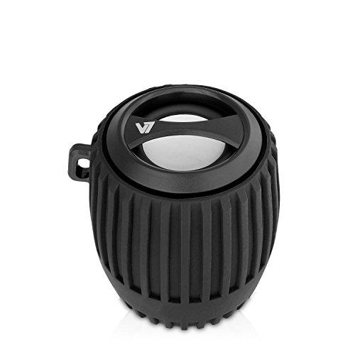 V7 SP5100 tragbarer spritzwassergeschützter Outdoor Bluetooth 3W Power Bass Lautsprecher mit Built-in Micro, 10 Meter Reichweite, 3h Akku Laufzeit (300 mAh), Schwarz