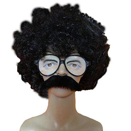 Neuheit Halloween Bart Brillen Lustige Charaktere Gesichts Requisiten Für Cosplay Maskerade Weihnachtsfeier,Wig+Beard+Glasses