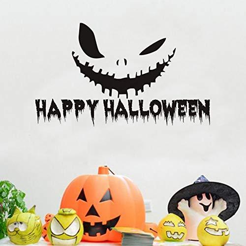 en Kürbis Lächeln Vinyl Wandaufkleber Abziehbilder Halloween Home Decorition Zubehör Wandtattoo Für Wandbild Schlafzimmer Tür 59 Cm X 35 Cm ()