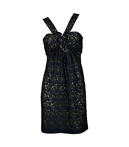 MW Matthew Williamson Damen Kleid Cotton Lace dunkelblau 79navy/bla 46