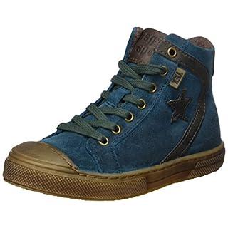 Bisgaard Unisex-Kinder Schnürschuhe Hohe Sneaker, Grün (Petrolio), 29 EU