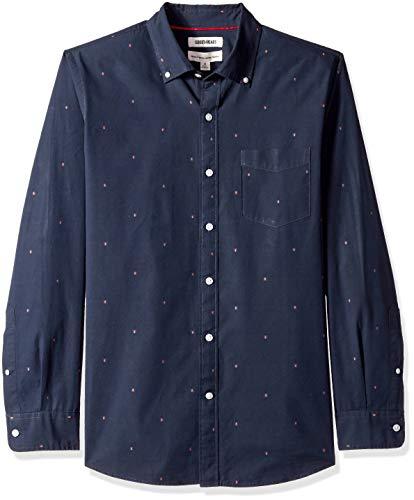 Dobby-hemd (Goodthreads Herren Regular Fit Dobby-Hemd mit langen Ärmeln, Blau (Navy Arrow Arr), XX-Large)