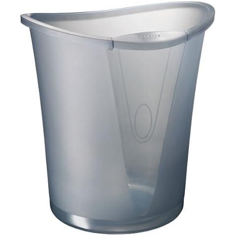 Leitz Allura 52040092 - Papelera de poliestireno (18 litros), transparente