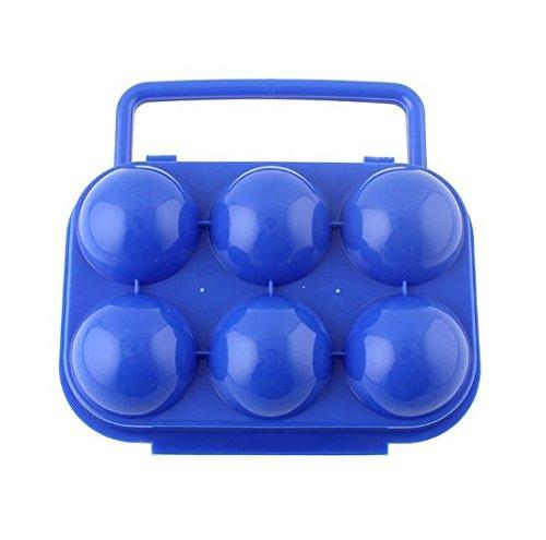 Interesting® Portable Faltung Plastikei Karton Halter für 6 Fach Träger Box Outdoor Camping Picknick Vorratsbehälter mit Griff Ei