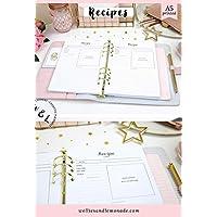 60 Planners - 30 Pages, Recipe Inserts, Recipe Cards Planner Refill, Recipe templates, Fits Kikki K, Filofax Inserts, LV GM, Carpe Diem