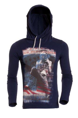 Carisma Herren Pullover Kapuzenpullover Hoodie Sweatshirt 3091 Navy