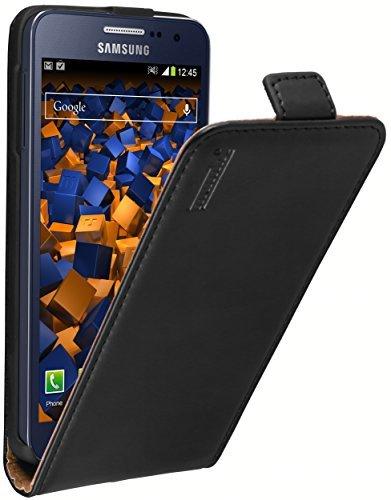 mumbi PREMIUM Leder Flip Case für Samsung Galaxy A3 (2015) Tasche