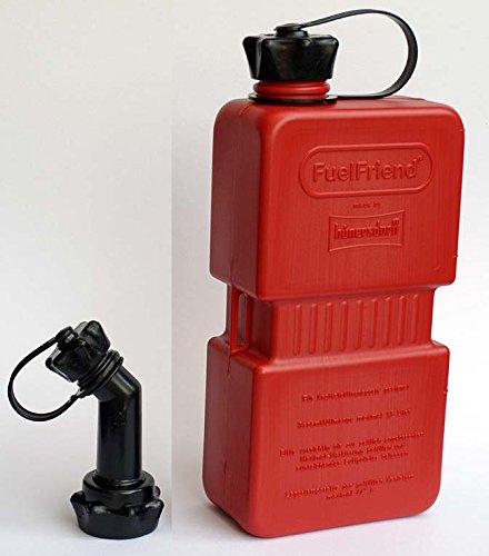 Preisvergleich Produktbild FuelFriend Plus 1,5 Liter Klein-Benzinkanister Mini-Reservekanister mit Füllrohr Verschließbar