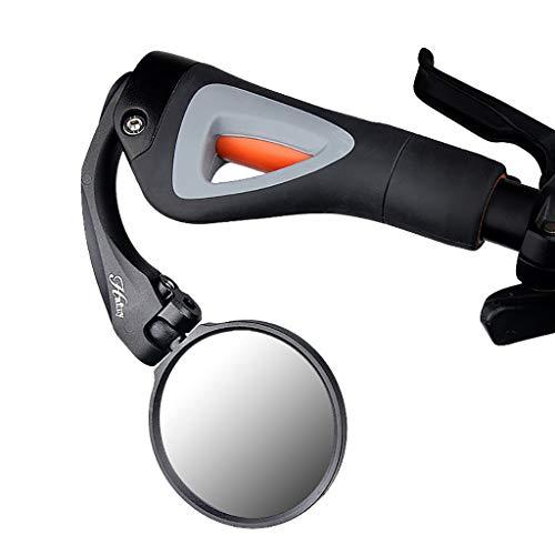 MA87 Qualitäts-Fahrrad-Fahrradlenker Hinterer Flexibler Sicherheit Rückspiegel (Schwarz) (Wand-berg-cup)