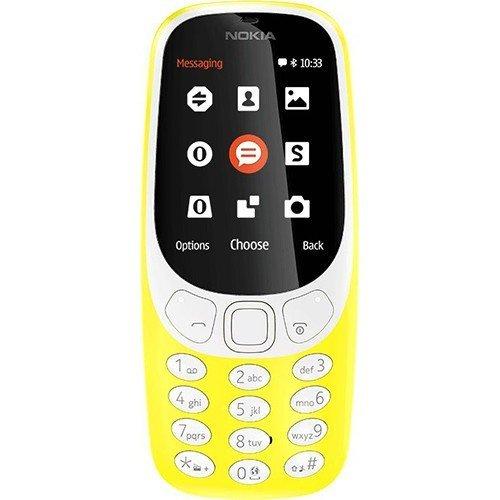 Nokia 3310 2.4' Amarillo - Teléfono móvil (Barra, SIM Doble, 6,1 cm (2.4'), 2 MP, 1200 mAh, Amarillo)