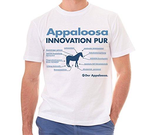 Siviwonder Unisex T-Shirt INNOVATION - APPALOOSA - Pferde Fun reiten Weiß