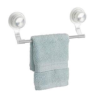 mDesign toallero Elegante de Acero Inoxidable y plástico Color Plateado – Toallero Pared Deal para Rollos de Cocina o…