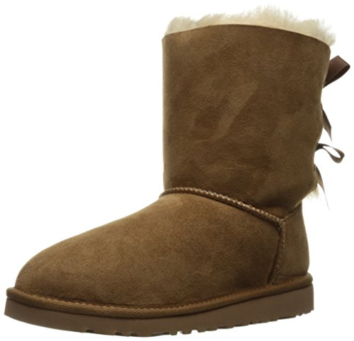 UGG Bailey Bow Unisex kinder Schlupfstiefel, Braun (chestnut), 33 EU (2 UK)