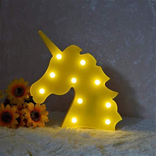 CC6 Lumière de Nuit Jaune Ins Accessoires de Tête de Licorne Tir Décoratif Lumières LED Lampe de Bureau Mignon Chambre des Enfants Styling Nuit Lumière Rêve Tenture Murale