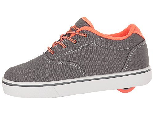 Heelys Boy's Launch (Little Kid/Big Kid/Adult) Charcoal/Orange Roller Skate (Kids Bekleidung Charcoal Big)