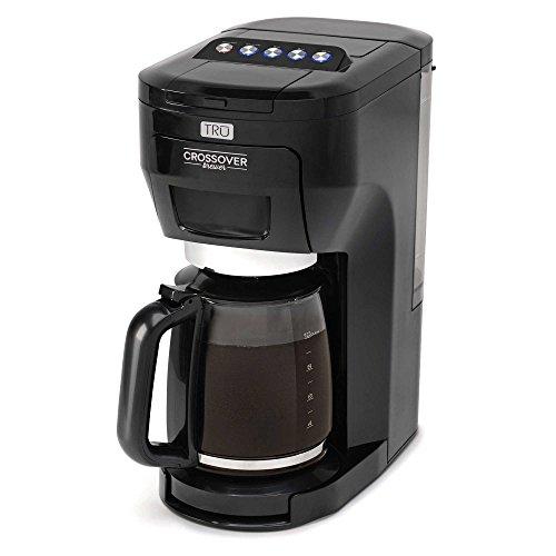 10 Cup Drip Coffee Maker (Tru CM-2000 Crossover Brewer Multi-Brew System, Black by Tru)