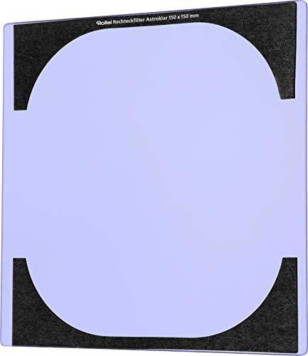 Rollei Astroklar Light Pollution Rechteckfilter 150 mm - hochwertiger Nachtlicht Filter (150x150 mm) für Astrofotografie und Nachtaufnahmen, effektive Reduzierung der Lichtverschmutzung und mit doppelseitiger Nanobeschichtung