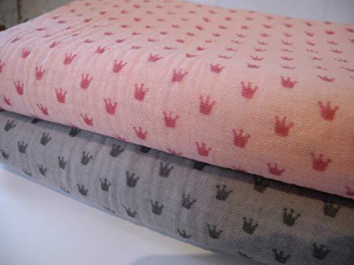Qjutie lottashaus no2h - set di asciugamani in spugna, 3 x 0,5 m, colore: rosa/grigio chiaro/antracite