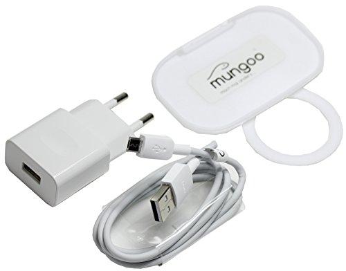 Ladekabel für Original Huawei HW-050100E01 + Datenkabel Ladegerät microUSB Huawei P8/P8lite/P8lite 2017/P8max/P9Lite/P10Lite 1A mit mungoo Steckdosen Handy-Halter