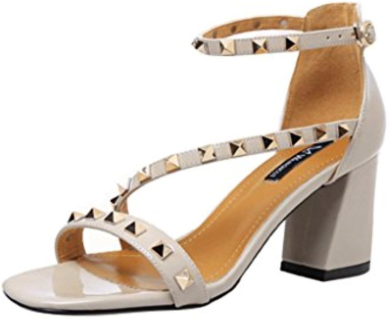 Chaussures à poils à ouverts poils ouverts à Chaussures romaines Chaussures sexy pour dames anciennes ( Couleur : Beige...B074C7KNRZParent 899e75