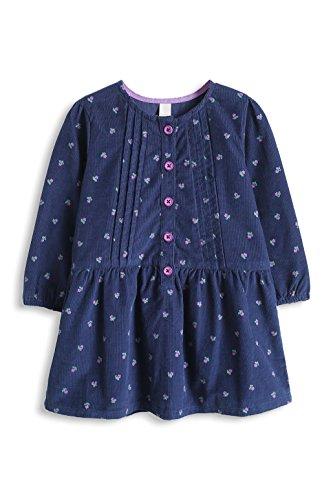 ESPRIT Baby - Mädchen Kleid 095EEAE002, Geblümt, Gr. 80, Blau (NAVY 400)