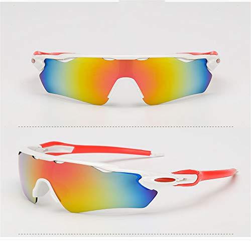 kamier Männliche und weibliche Reitsonnenbrille, explosionsgeschützte Sonnenbrille, Sportfischersonnenbrille, rot und weiß