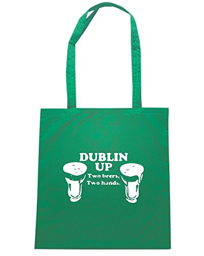T-Shirtshock - Borsa Shopping TIR0048 dublin up dark tshirt Verde