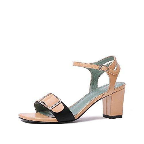 Sommer damen mode high heels/Das wort mit einer zehe dick mit sandalen D