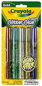 Crayola Tubes de colle scintillante - Lavable - 5/paquet (3 paquets)