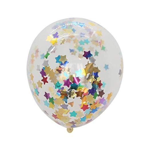 Peepheaven 12 Pulgadas Gigante Colorido Confeti Foil 1pcs Globo Jumbo Helio látex Globos de Mezcla de Colores
