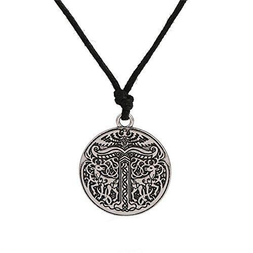 Nordic Talisman Wicca Animal Rehe und Eagle Anhänger WAC HWAC Schnur Halskette Schmuck (Metall Wac)