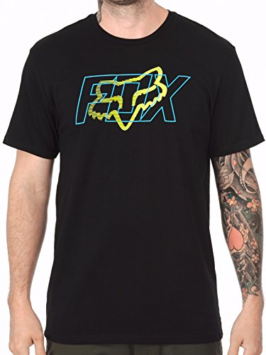 Fox Herren T-Shirt SKARS SS TEE - Black , Größe:L